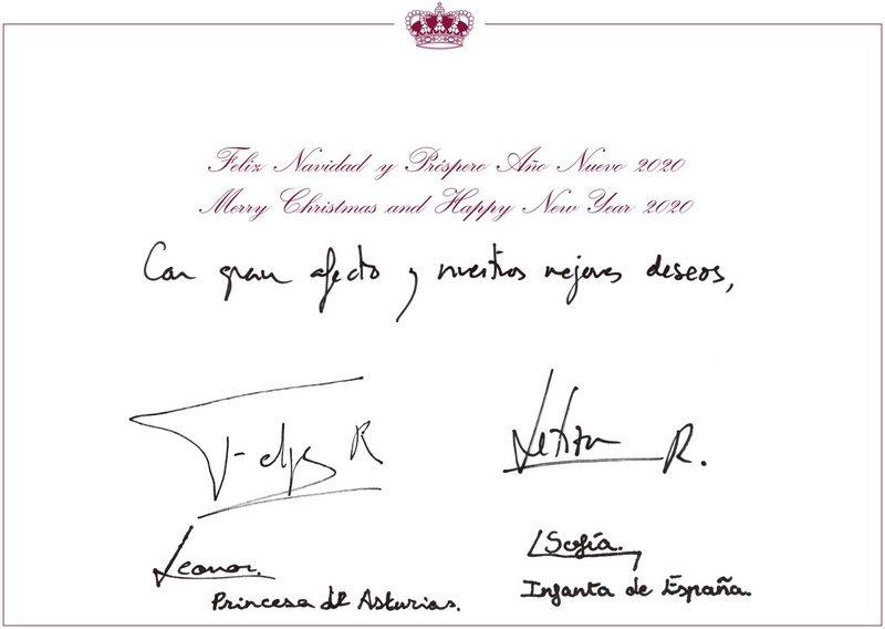 Cartes de voeux de Felipe et Letizia