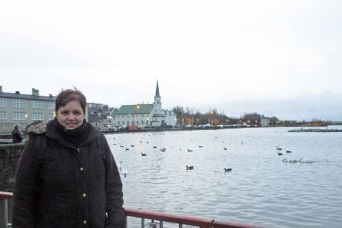 lac au centre de Reykjavik