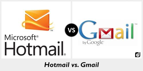 Difference between Hotmail and Gmail