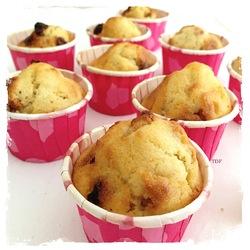 Muffins délicieux au mascarpone.