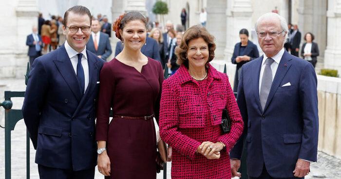 La famille royale de Suède à Pau