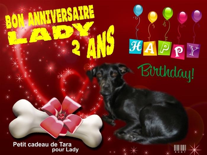 Cadeau de Rony et Tara pour Lady , merci ♥