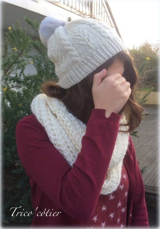 Bonnet Brookling Tweed et snood facile