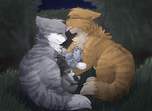 Étoile Balafrée et Brise de Nénuphar (Crookedstar and Willowbreeze) -  Warrior Cats Project