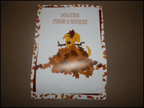 "Box# Doggybox "" Jardin d'automne "" - Septembre 2014"