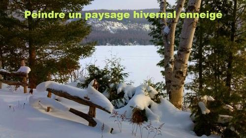 Dessin et peinture - vidéo 2631 - Peindre un paysage d'hiver - acrylique ou huile.