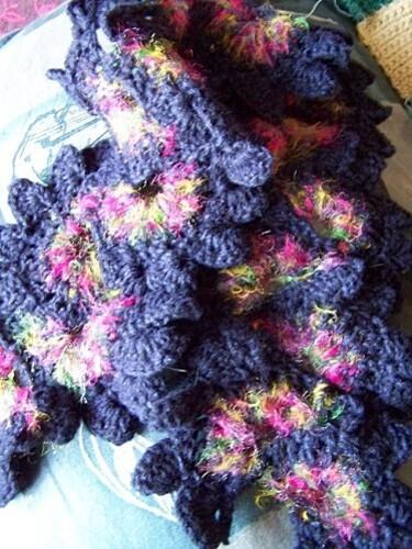 echarpe crochet fleurs pour flo