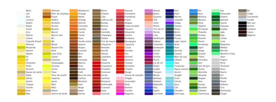 Noms des couleurs