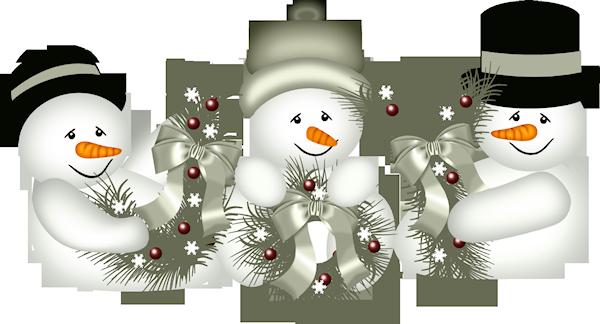 tubes noel / bonhommes de neiges