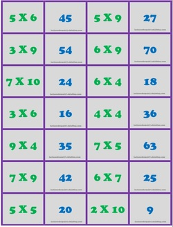 38 dominos sur les multiplications pour le cycle 3