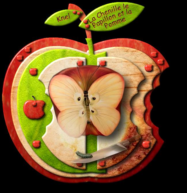 La Chenille,Le Papillon et la Pomme