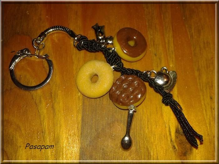 Porte clef gourmand  pour une amie d'enfance  ...