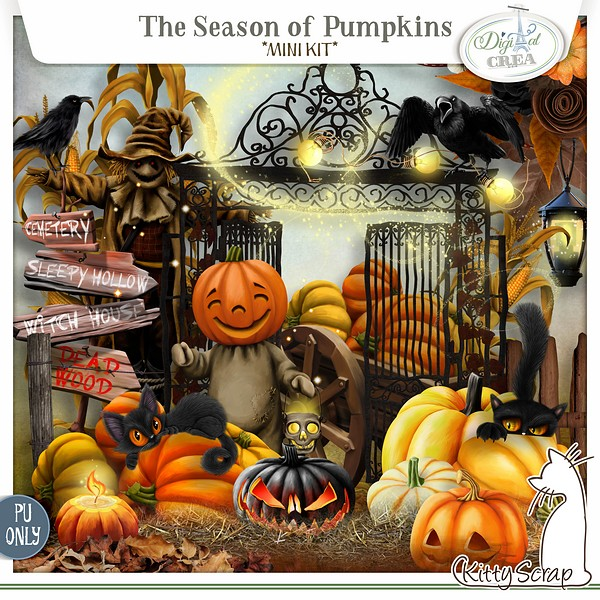 mini kit the season of pumpkins de kittyscrap