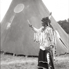 Crow man outside medicine tipi Early 1900s. Photo by Richard Throssel.University of Wyoming