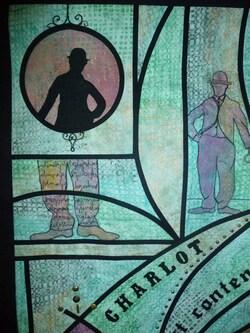 Art textile : hommage à CHARLOT