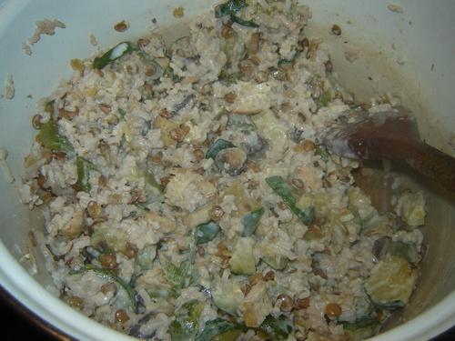 Riz aux légumes/salade et graines grillées