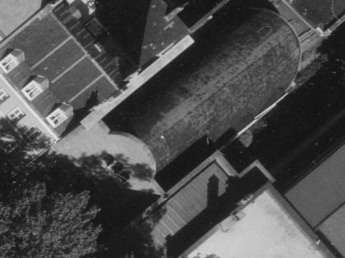 Lille, Bd Montebello en 1965, Temple, façade (remonterletemps.ign.fr)