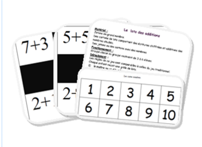 Jeu de math: loto des décompositions additives