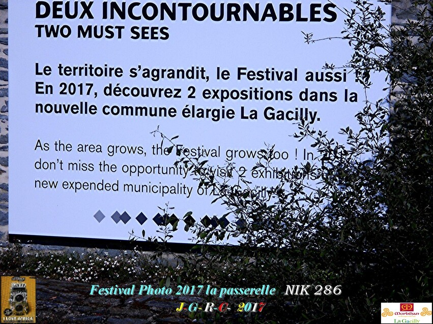 FESTIVAL PHOTO LA GACILLY # GLENAC # LA CHAPELLE GACELINE       D     30/07/2017
