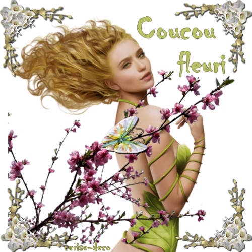 coucou fleuri : gif