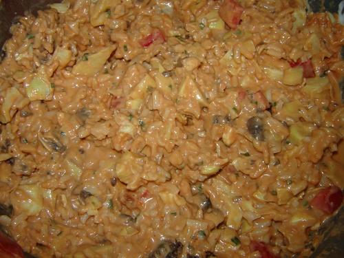 Tarte riz et coeurs d'artichauts