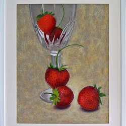 Les fraises 50 x 70  Sylvie Marin Durand