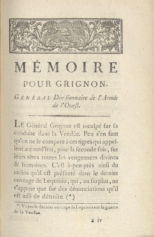 Justifications du général Grignon (4)....