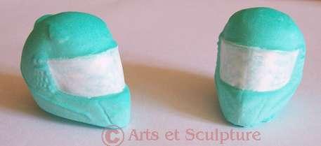 casque moto-miniature - Arts et Sculpture: sculpteur designer