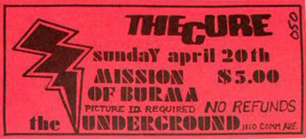 1980.04.20-The Cure-Boston-The Underground
