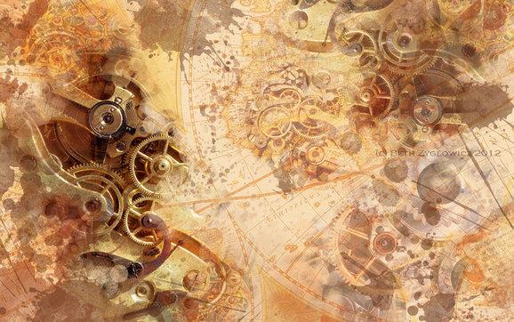 Tubes Steampunk-Fonds