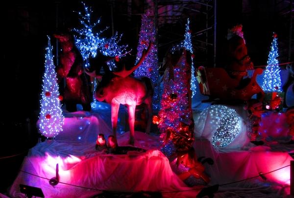 La Mairie de Châtillon sur Seine illuminée pour les fêtes de fin d'année 2017