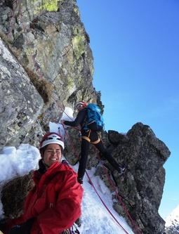 Petit test avant une sortie en alpinisme hivernal