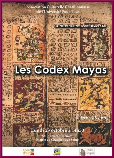 Les codex Mayas, une conférence de  pour l'ACC