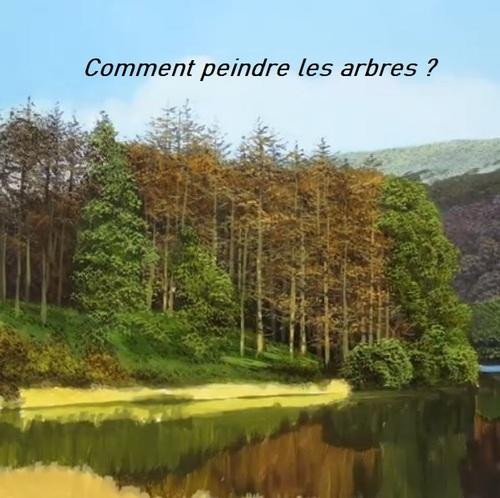 Dessin et peinture - vidéo 2972 : Comment peindre les pins dans un paysage anglais ? 2/2 - peinture à l'huile.