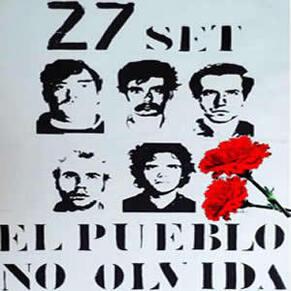 Red de Blogs Comunistas : Il y a 40 ans, les fusillés du 27 septembre 1975