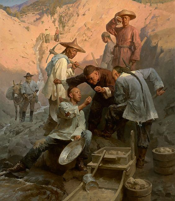 The Gold Nugget, Chinese Camp, 1850 By Mian Situ: