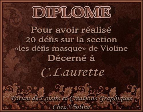DIPLOMES RECUS CHEZ VIOLINE
