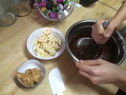 Brownie chocolat-banane-beurre de cacahuète