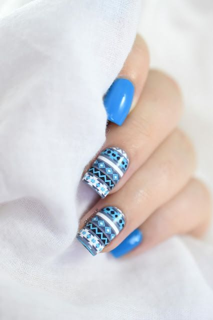 Marine Loves Polish: Nailstorming - Le Froid - Winter sweater nail art - what's up nails water decals [VIDEO TUTORIAL]: