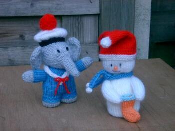 Eléphant et Bonhomme de neige