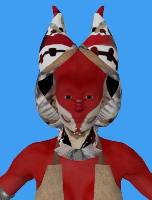 Rendu de la tête avec inversion du plan des faces