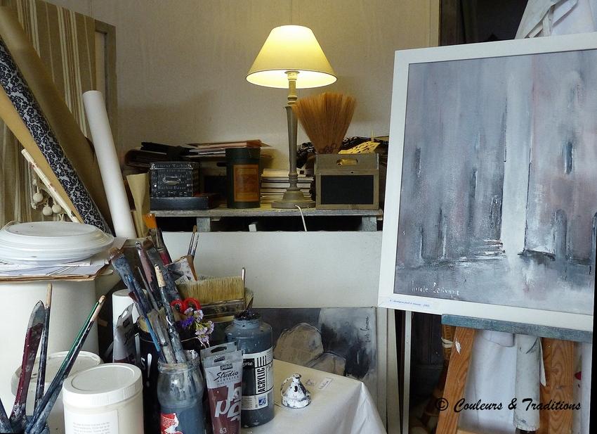 Nicole Corivenc, artiste peintre à Lautrec