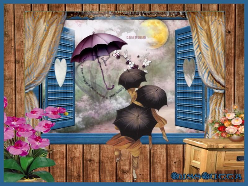 Defi cerise déco cluster avec parapluit !