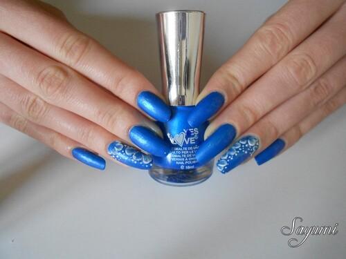 Nail Art 3D Fleurs givrées