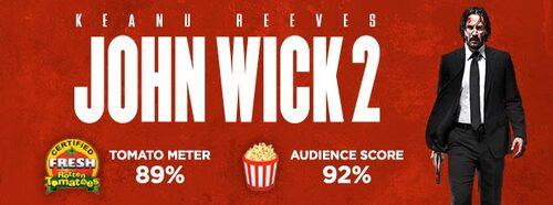 JOHN WICK 2, mercredi au cinéma ! Découvrez les affiches collectors, l'entraînement de Keanu Reeves et un extrait.
