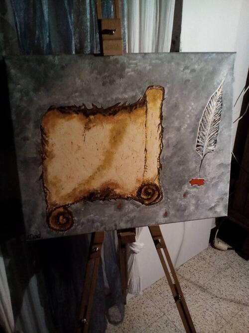 """Peinture """"Commencement"""""""