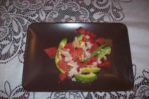 Salade fraiche avocat / pamplemousse