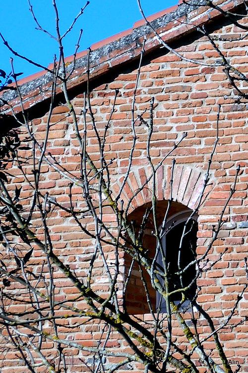 Façade de maison en brique