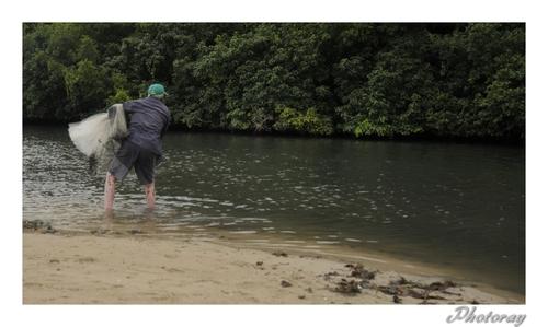 La pêche à L'épervier en Guadeloupe
