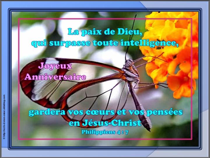 Joyeux Anniversaire - Philippiens 4 : 7